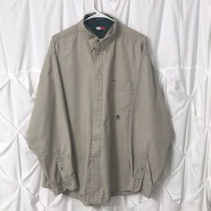 Tommy Hilfiger VTG 90's Button Down Shirt Khaki